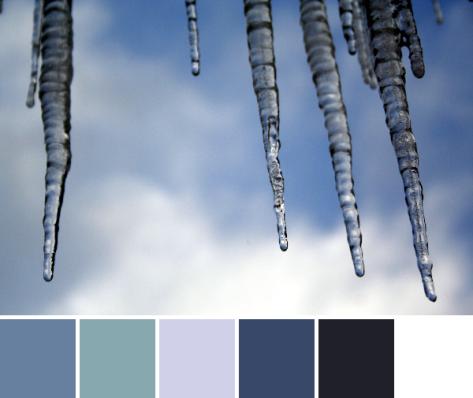 blue sky icicles color palette