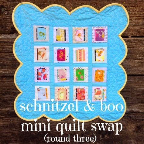 schnitzel and boo mini quilt swap round 3