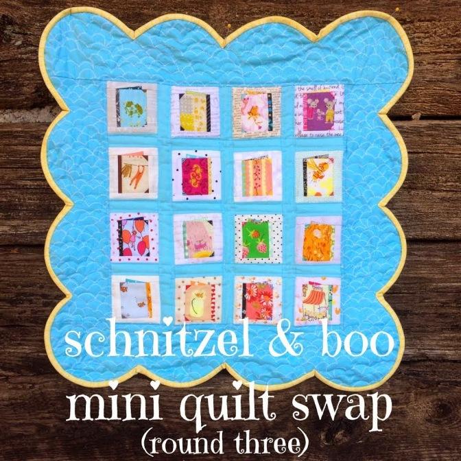Schnitzel and Boo Mini Quilt Swap: I'm in!