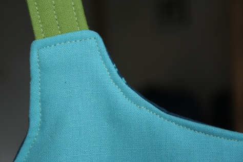 imperfections in sewing bag