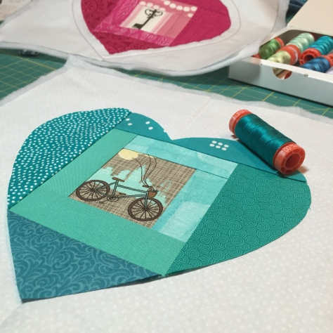 key to a cyclists heart quilt