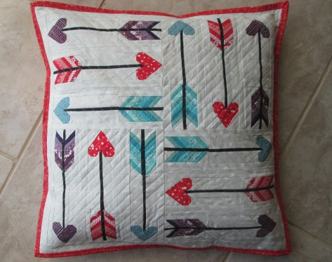 love struck pillow by julie schloemer