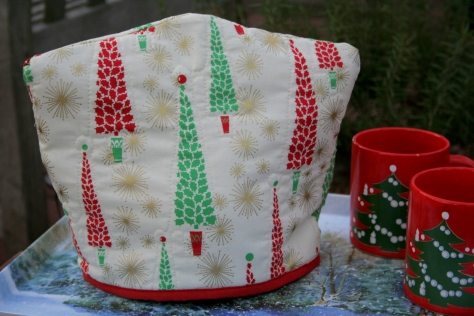 Reversible tea cozy christmas