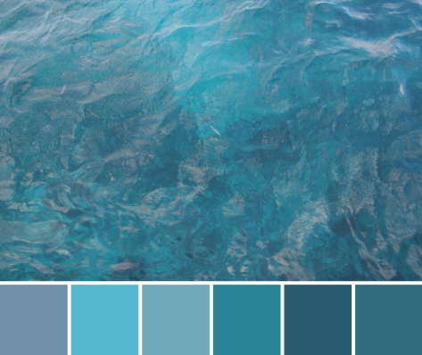 tropical water color palette