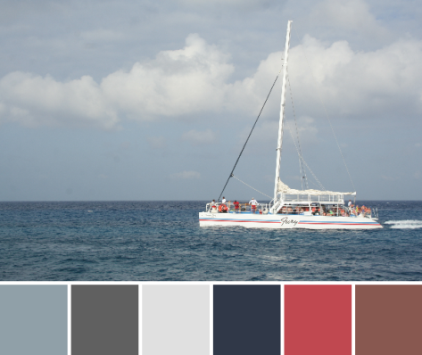 catamaran sail boat color palette