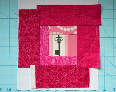 Key to my Heart paper piecing and applique tutorial
