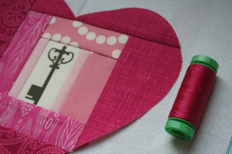 Key to my Heart paper piecing and applique tutorial aurifil