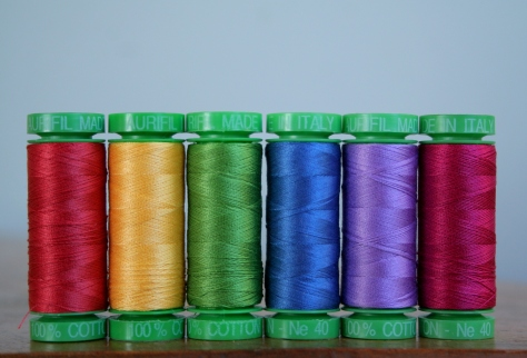 rainbow aurifil thread