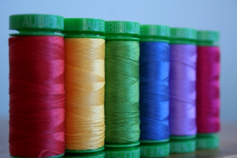 rainbow aurifil thread gradient