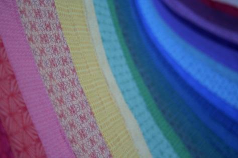 rainbow jellyroll quilt