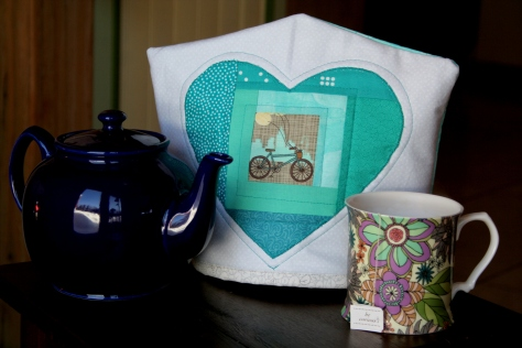 bicycling tea cozy