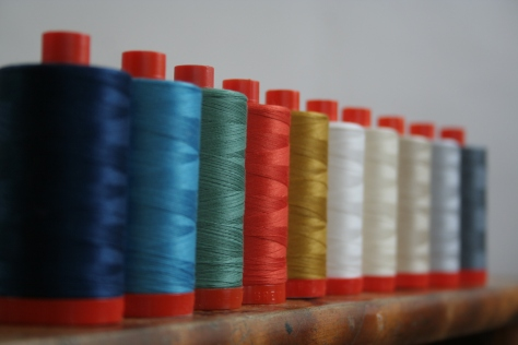 Doe coordinating Aurifil thread set
