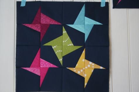 swirling stars quilt block