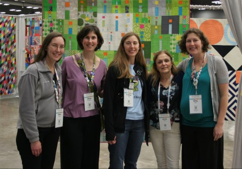 new bloggers at quilt con