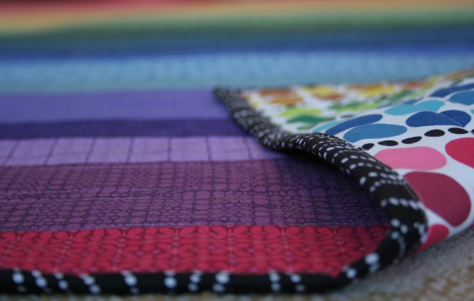February Finish {ALYoF}: Rainbow Jellyroll Quilt