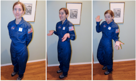 Yvonne modeling her QuiltCon Alter Ego flight suit--can you believe we did not get a single photo together in our Alter Ego attire!?
