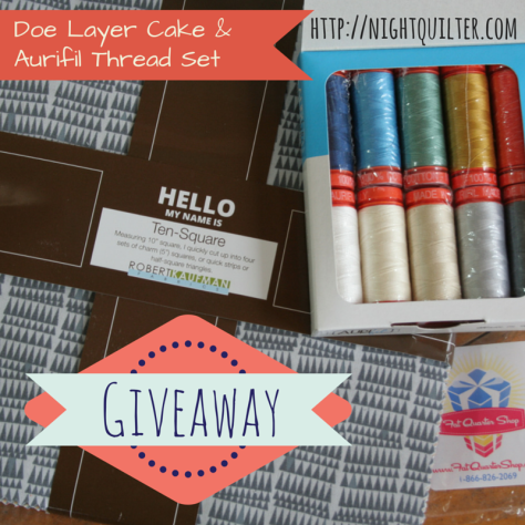 doe fabric and aurifil giveaway