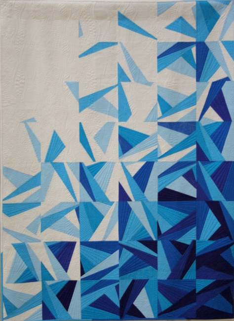 paper pieced modern amy garro icy waters quilt