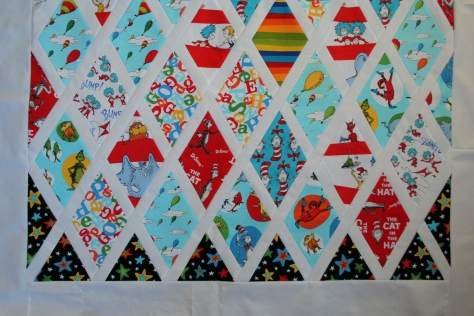 dr seuss quilt top finish edges