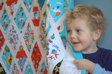 max and dr seuss quilt