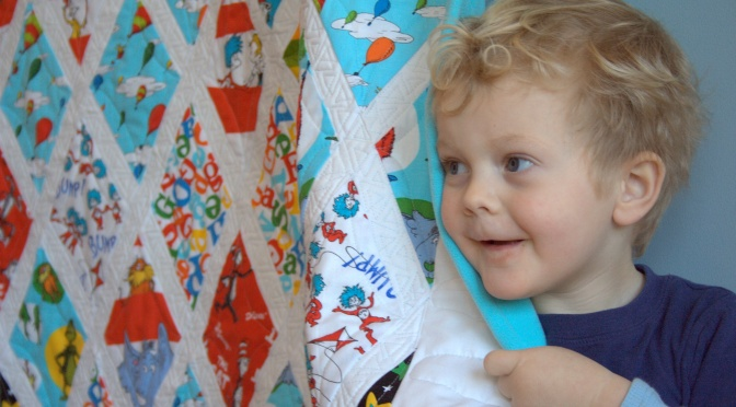 Friday Finish: Dr. Seuss Diamonds Quilt