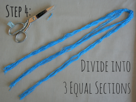 Step 4- Divide into 3 equal sections