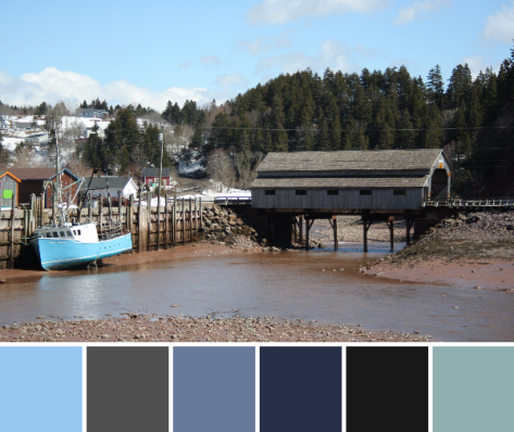 bay of fundy color palette