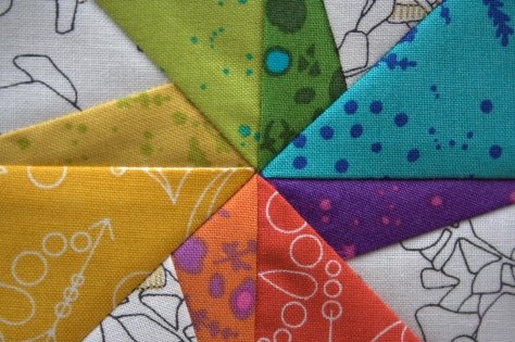 rainbow pinwheel twirling star quilt pattern