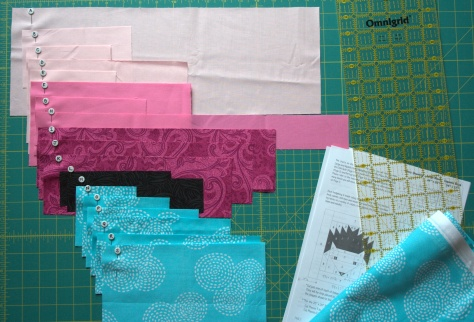 hazel hedgehog and numbered pins for organizing cut quilt pieces