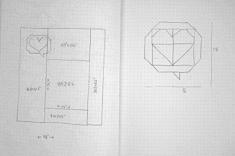 sketchbook plans for hazel layout