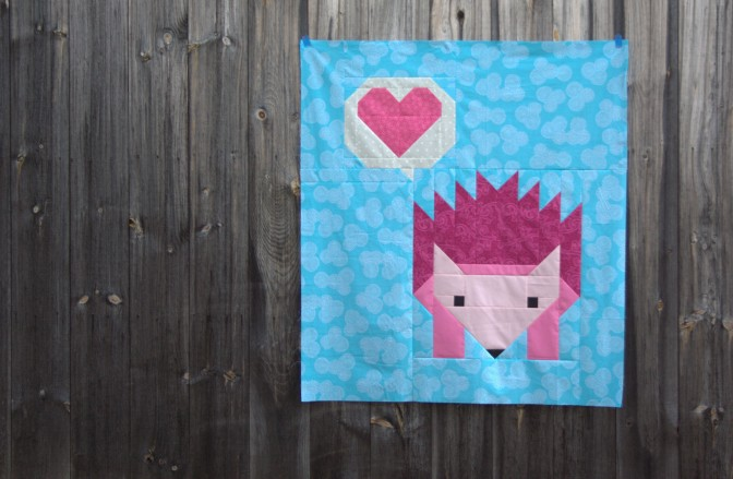 April Finish: {ALYoF} Pinkalicious Hazel Hedgehog Quilt Top, Plus Some!