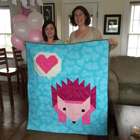 Gifting Hazel hedgehog quilt