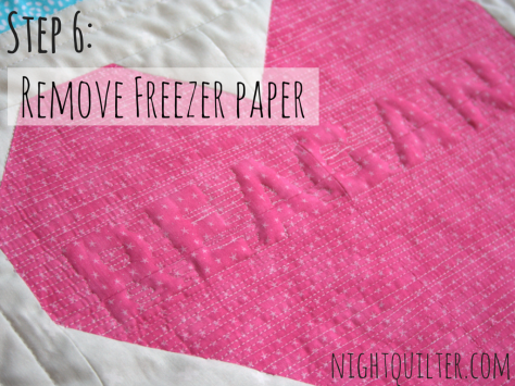 relief quilting words tutorial