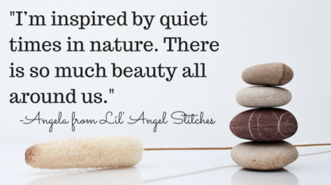 Photograph by Xisco Bibiloni from Flickr; Quote taken from comment by Angela from Lil' Angel Stitches.