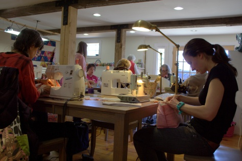 one hour basket sewing class at alewives