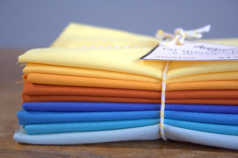Fiddlehead Moda Bella Solids August FQ bundle