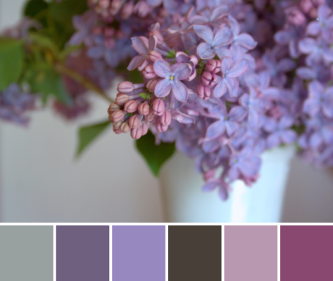 lilacs color palette