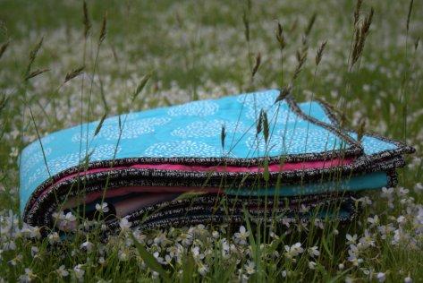 folded hazel hedgehog pink baby quilt