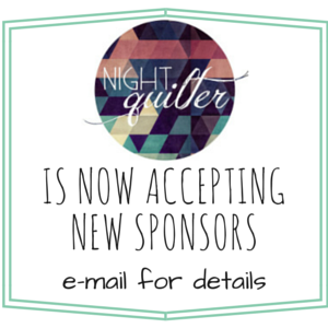 night quilter accepting new sponsors