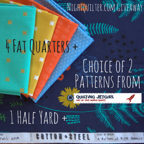 sms giveaway day on night quilter