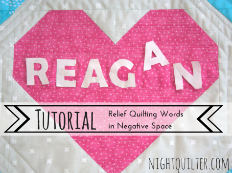 TUTORIAL- Relief Quilting Words