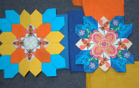 Color planning for the outer row and borders of table runner