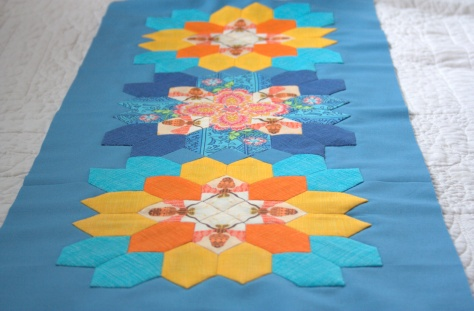 completed table runner top lucy boston epp
