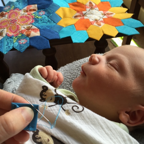 sleeping baby stitching