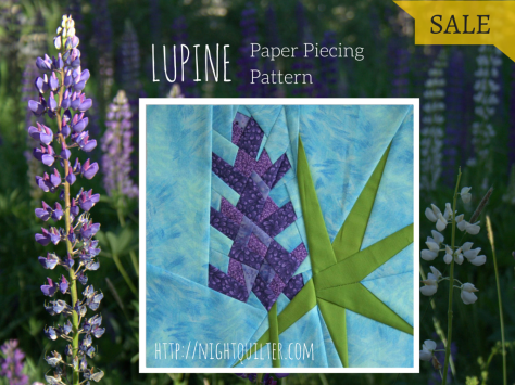 LUPINE foundation paper piecing pattern sale