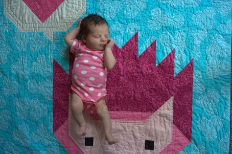 dreaming of love on baby quilt
