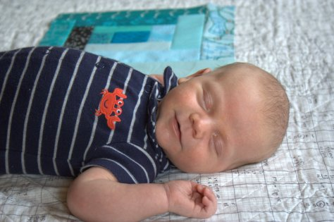 baby finn smile 1 month