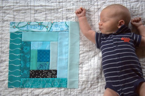 20 minute quilt block finn 1 month