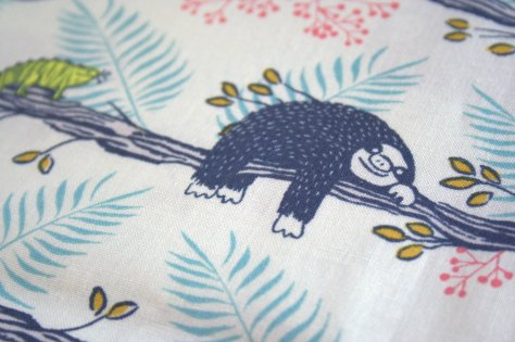 Sloths from Honeymoon by Sarah Watts for Cotton & Steel