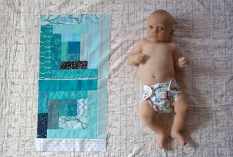 Finn 2 months old quilt